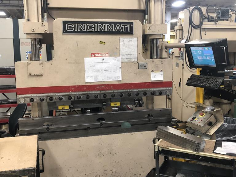 Cincinnati 60PF4, 60 Ton CNC Press Brake, Cincinnati Touch Screen 3-Axis Control, 2-Axis Back Gauge, Extended Ram Stroke 11""