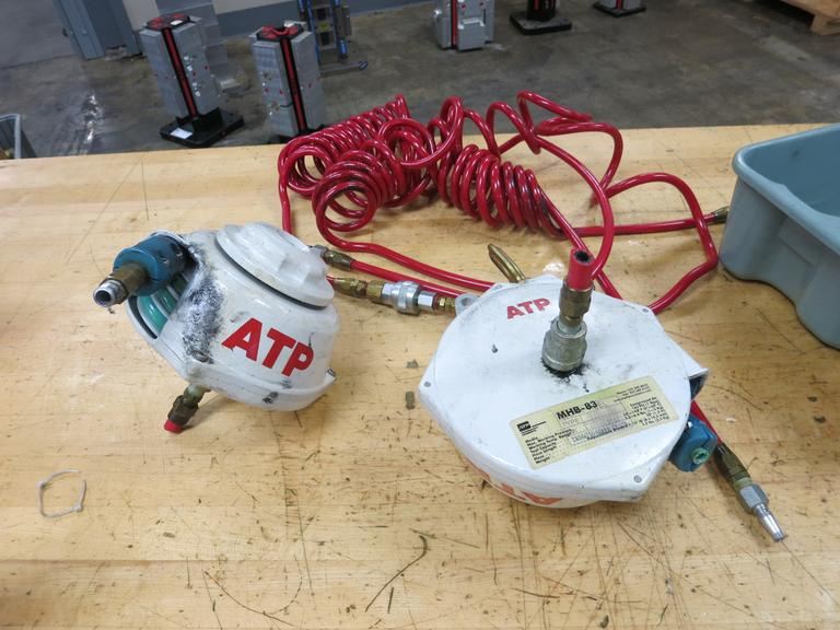 ATP Model MHB-83 Hose Reels (2) With Air Hoses