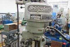 Bridgeport 1J Vertical Toolroom Mill with Gearbox Power Table Feed and Acc-Rite II 2-Axis Digital Read Out