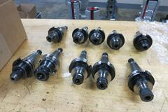 Cat 40 Taper Tool Holders (10): (7) ER16 Collet, (1) ER25 Collet, (2) End Mill Holders