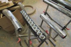 (4) Assorted Adjustable Roller Stands