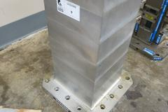 "Abbott 10""x10""x24"" High 4-Sided Tombstone.  Like New, With 400mm Pallet Base"