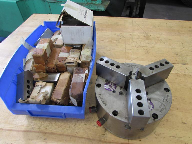 "Microcentric 6"" 3-Jaw Chuck with Several Sets of New Jaws"