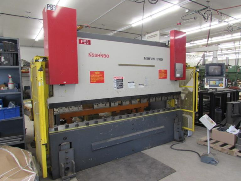 Nisshinbo 125-3100 CNC Hydraulic Press Brake with 7-Axis Back Gauge