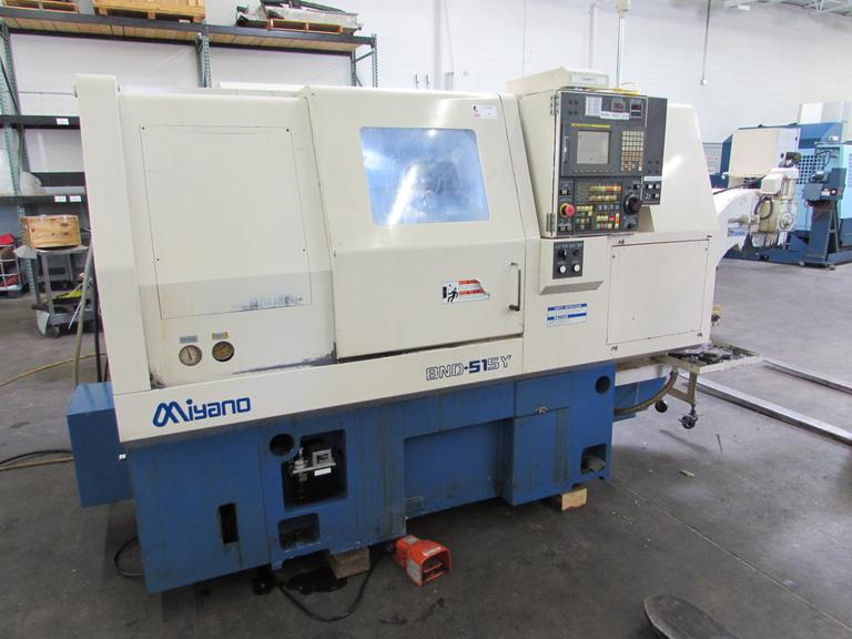 Miyano BND-51SY CNC Turning Center with Sub Spindle, Live Tool Turret, Y-Axis, and Fanuc Control