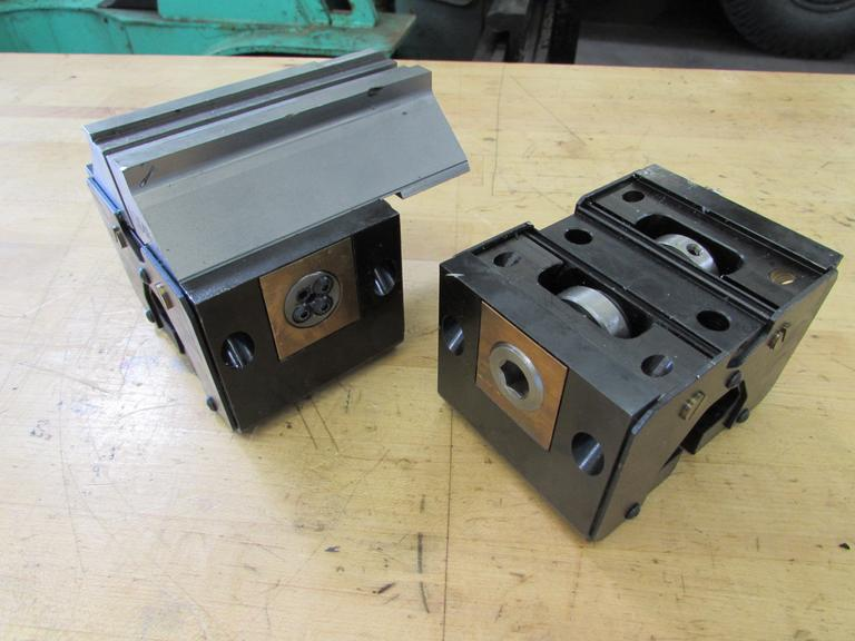 (2) Stevens Engineering Self-Centering Vises,  5000lb Max Clamping Force, (1) With Jaws