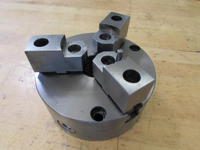 "Kobayasi 6.5"" 3-Jaw Chuck with 1.75"" Hole.  2100 RPM Max Speed"