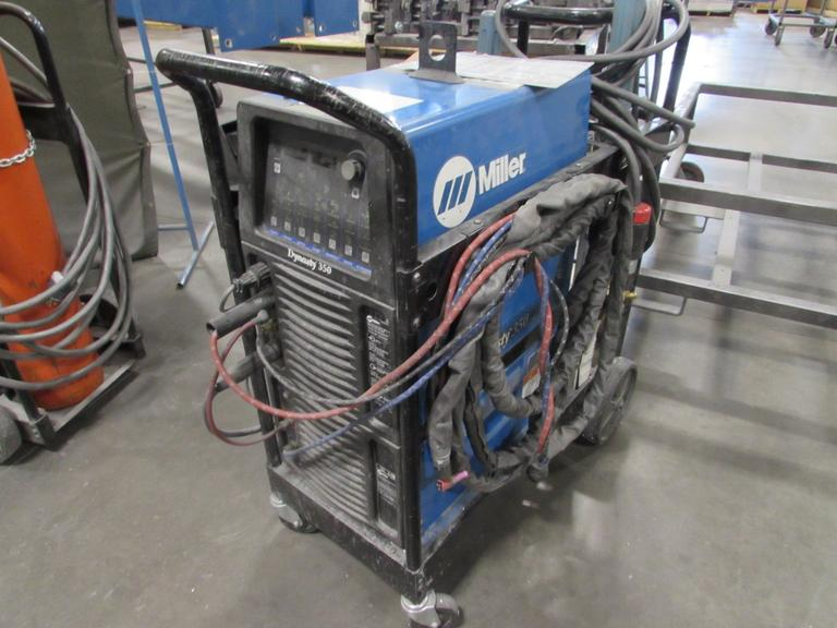 Miller Dynasty 350 Welding Power Source with TIG Torch and Chiller