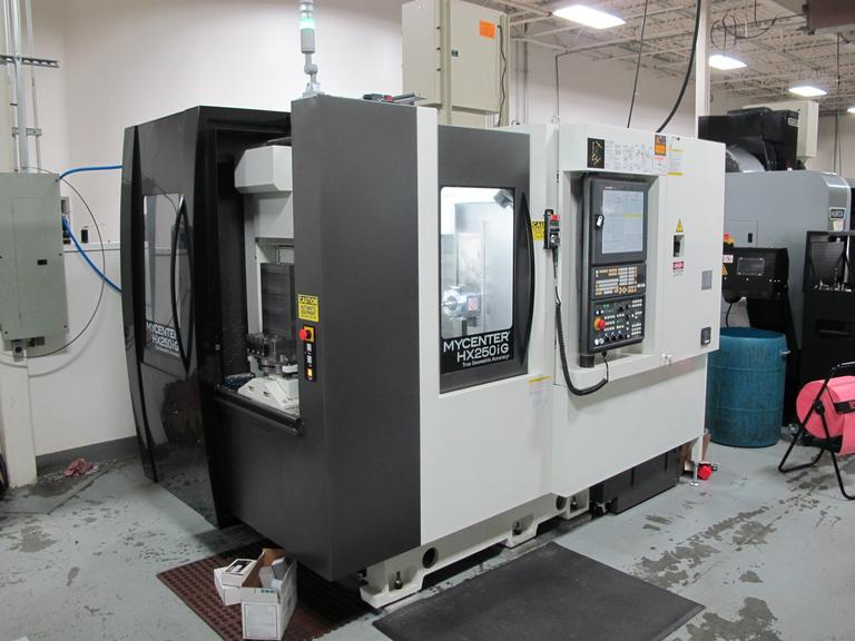 Kitamura Mycenter HX250iG 4-Axis CNC Horizontal Machining Center with (2) Station Pallet Changer, Full 4th Axis, and Through Spindle Coolant