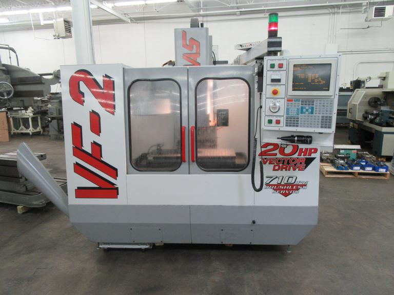 Haas VF-2 CNC Vertical Machining Center with Probing, Thru-Spindle Coolant, 4th Axis Drive