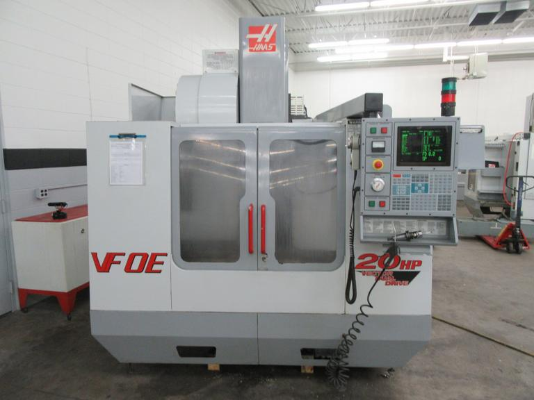 "Haas VF-0E CNC Vertical Machining Center 30"" x 16""x 20"" Travels, with Twin-Arm Tool Changer, Probing System, 4th Axis Brushless Drive"
