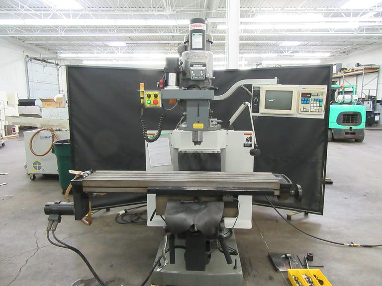 "Bridgeport EZ-Trak II (Series 2 Special) 3-Axis CNC Knee Mill with Air Power Draw Bar, 11"" x 58"" Table, 30-Taper Spindle with Tooling"