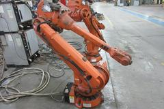 ABB IRB460-20/2.50 6-Axis Robot with IRC 5 Control Unit Flex Pendant, Welding Torch Cleaner