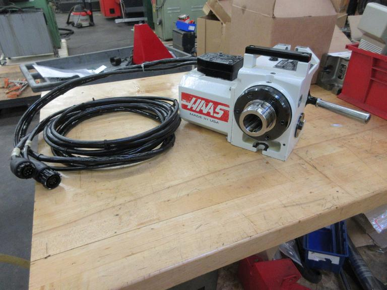 Haas HA5C Programmable Rotary Table, Brushless Drive motor, Hand Lever Colet Closer, Cables and Interface Connectors