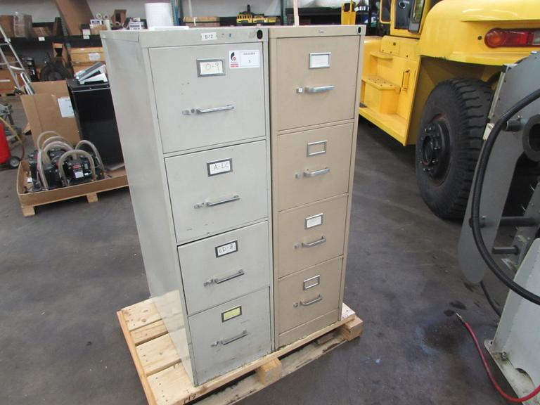 (2) 4-Drawer File Cabinets
