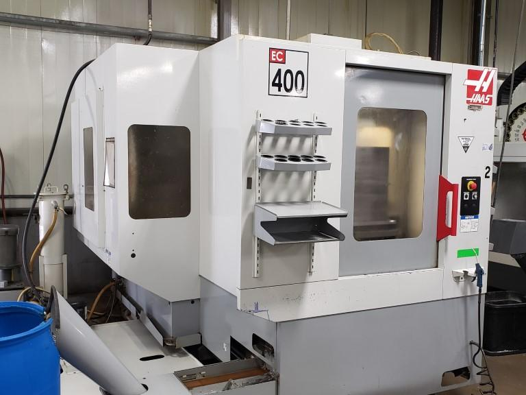 Haas EC-400 CNC Horizontal Machining Center with Pallet Changer and Thru Spindle Coolant