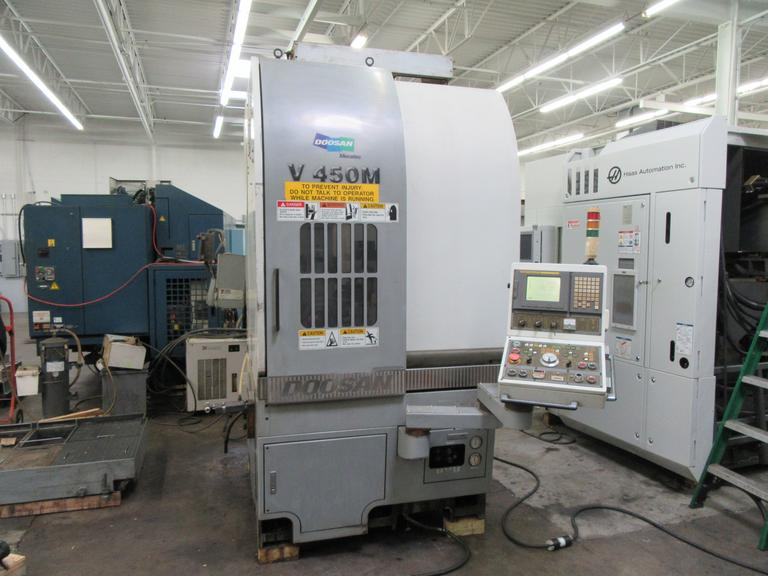 Doosan V450M CNC Vertical Turning Center with Live Milling