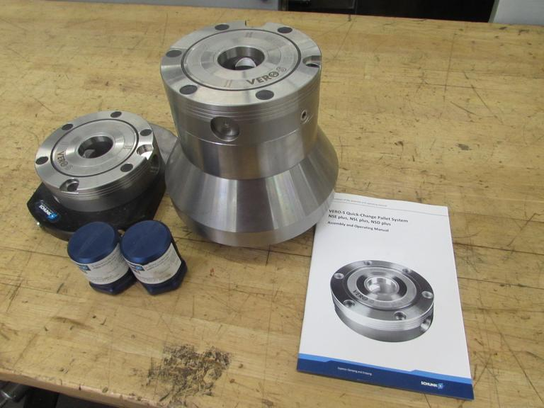 (2) Schunk Vero-S Quick Change Pallets with Clamping Pins