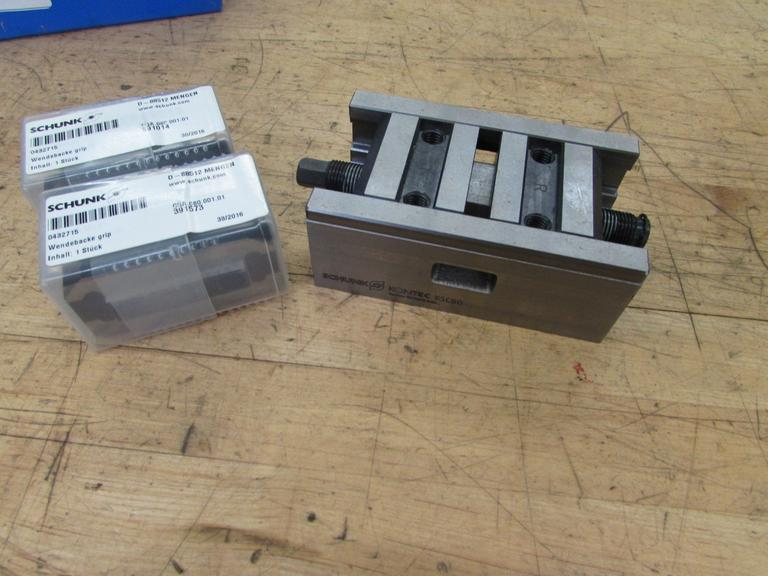 Schunk KSC80 Self-Centering Vise with Jaws