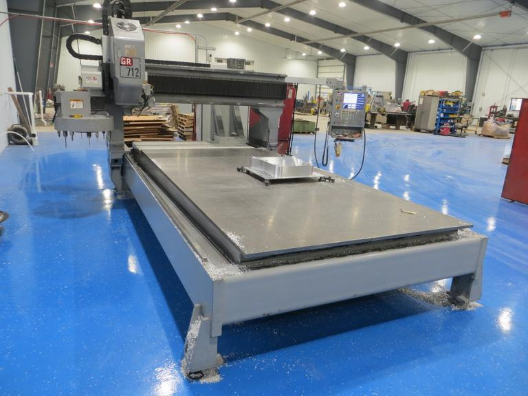 Haas GR-712 CNC Router with Haas Coldfire, Drilled & Tapped Steel Table