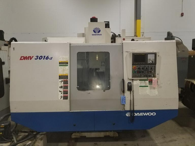 Daewoo DMV 3016D CNC Vertical Machining Center w Fanuc Oi-M CNC Control