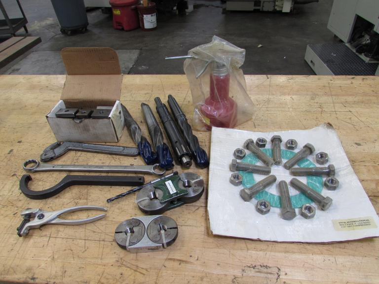 Assorted Items: Drills, Hand Tools, Thread Gages & More