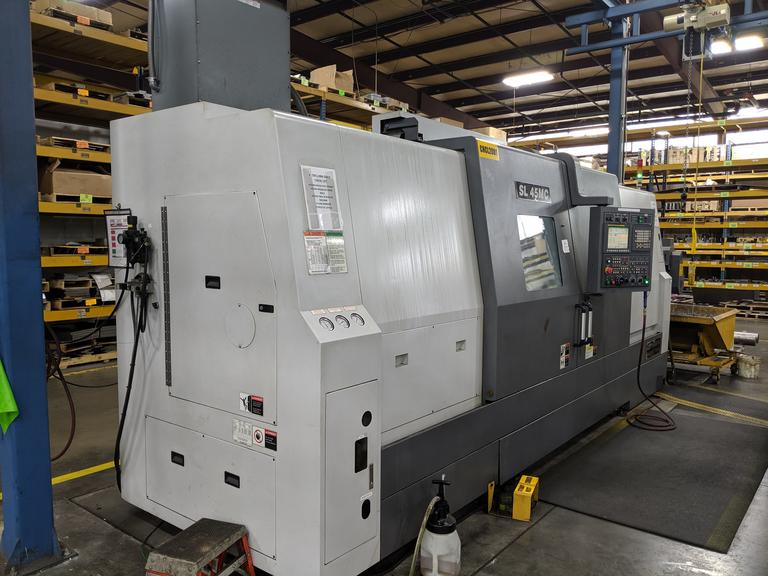 Samsung SL-45MC/2200BB Big Bore CNC Turning Center with Live Milling on Turret