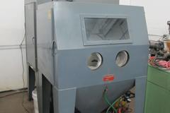 Trinco 48x36 Direct Pressure Blast Cabinet With DP850 Abrasive Separator and Dust Collector Unit