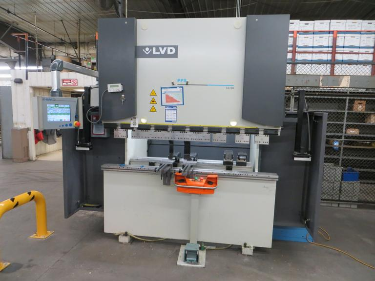 "LVD PPS 50/20, 55 Ton x 6'6"" CNC Hydraulic Press Brake with Cadman TS (Touch Screen) CNC Control and 2-Axis (X&R) Programmable Back Gauge"