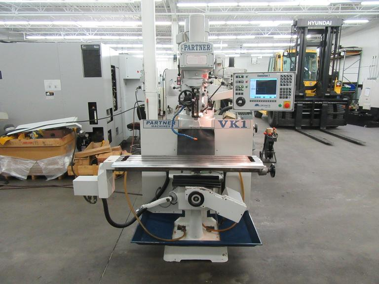 Milltronics VK1 Series A CNC 2-Axis Vertical Milling Machine with Centurion 7 CNC Control