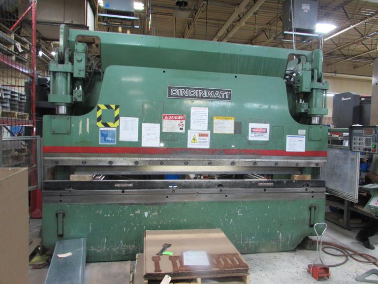 Cincinnati Model 90 CBIIX10FT 90 Ton x 12' CNC Hydraulic Press Brake with Cincinnati Multi-Axis Control