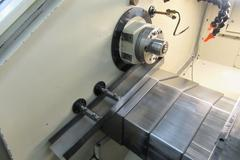 Hardinge Conquest GT-27 CNC Gang Style Turning Center, with Gang Plate, Parts Catcher, Bar Feed and High Pressure Coolant