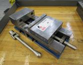 "Kurt 3600V 6"" Machine Vise with Handle and Steel Jaws"