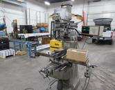 "Bridgeport Series I 2HP Vertical Mill with 9"" x 48"" Table, Kurt Vise, and Collets"