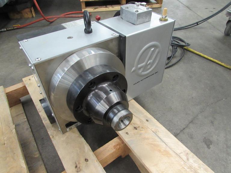 Haas HRT A-6 Brushless Programmable Rotary Table with A1-6 Spindle Nose and 5C Air Collet Closer