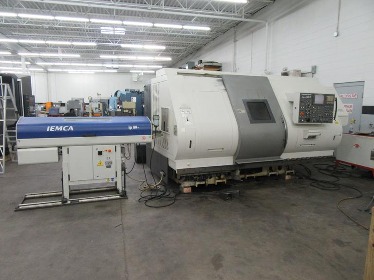 Nakamura Tome Super NTJ CNC Turning Center, Dual Spindle, Dual Turret, Live Millng, Upper Turret Swivels for B-Axis, Iemca IP80 Magazine Bar Feed