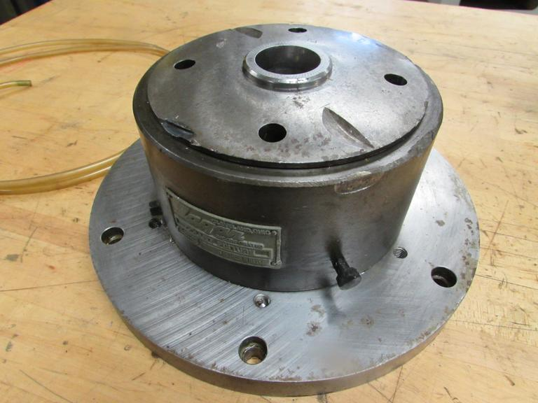 "Logan Pneumatic 5C Collet Fixture with 11"" Backer Plate"