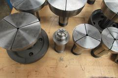Assorted 16C Collet Tooling Including Step Chucks and Closers up to 5-3/4""