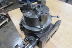 "News 8"" Rotary Table with Cushman 3-Jaw Chuck"