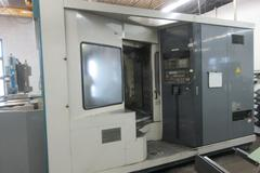 Mori Seiki Model MH-63 CNC Horizontal Machining Center, (2) 630mm Pallets, 4th Axis PRogrammable, Cat 50 Taper, 60 Station Automatic Tool Changer