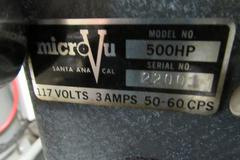 MicroVu 500HP Bench Top Optical Comparator