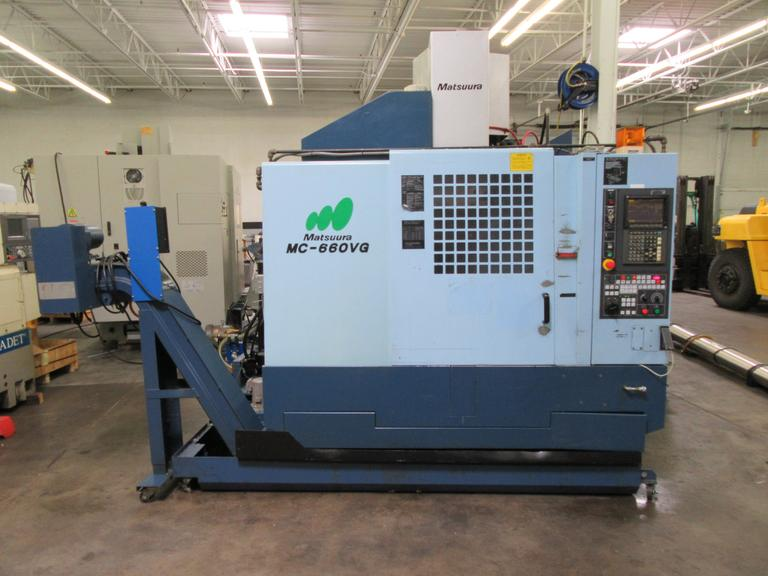 Matsuura MC-660VG CNC Vertical Machining Center with 20,000 RPM Spindle and High Pressure Thru-Spindle Coolant