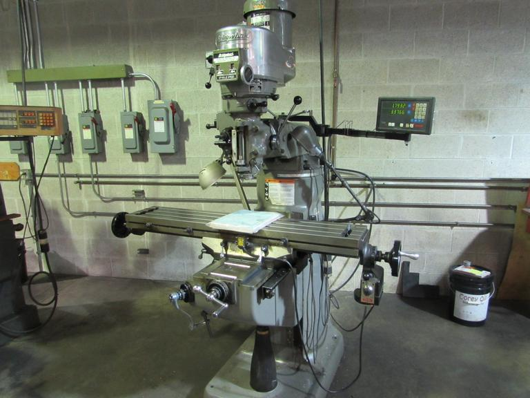 Bridgeport Series I 2HP Vertical Mill with Newall 2-Axis DRO and Servo Power Feed