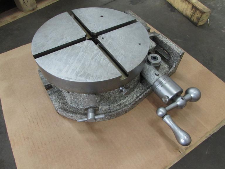 "Universal Vise & Tool 12"" Manual Rotary Table.  Horizontal/Vertical Mount"