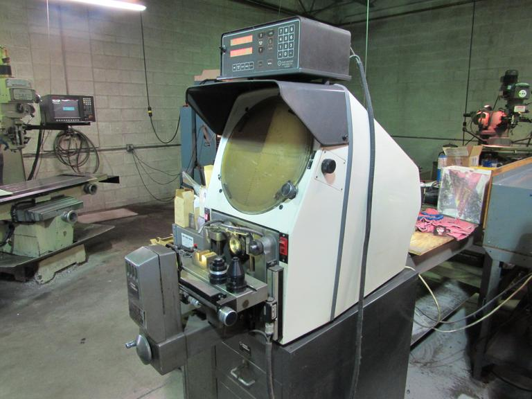 "Gage Master Model 29 GM2 14"" Optical Comparator with 2-Axis DRO and (3) Lenses"
