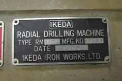 Ikeda RM1300 Radial Arm Drill with Box Table