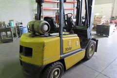 "Yale GLP060TF 6000lb Capacity, 189"" Lift LP Powered Fork  Truck with Pneumatic Profile Solid Tires, Side Shift and 3-Stage Mast"