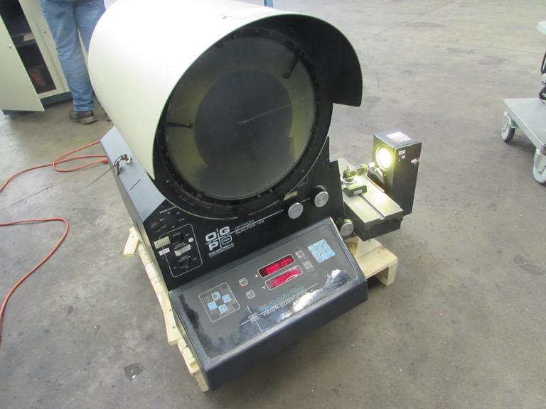 "OGP Model OQ 14B Optical Comparator with 14"" Diameter Screen and Cabinet Base"