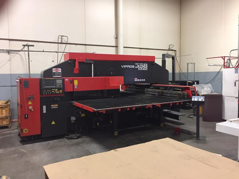 Amada Vipros 358 King II CNC Turret Punch with 58-Station Thick Turret and Fanuc Series 18-P Control