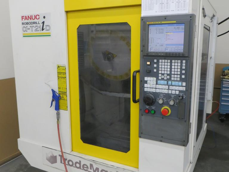 Fanuc Robodrill T21iD CNC Vertical Machining Center with 20,000 RPM Spindle